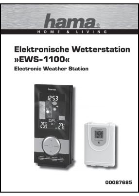 Hama EWS-1100 00087685 Руководство пользователя