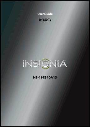 Insignia NS-19E310A13 Руководство пользователя