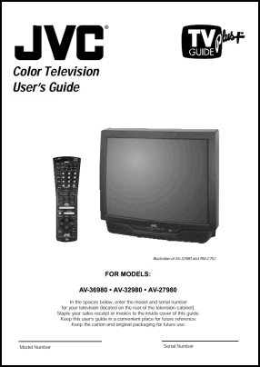 JVC AV-36980, AV-32980, AV-27980 Руководство пользователя