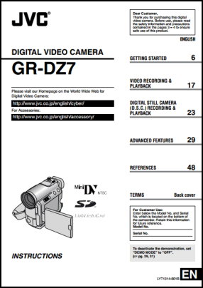 JVC GR-DZ7 User's Manual