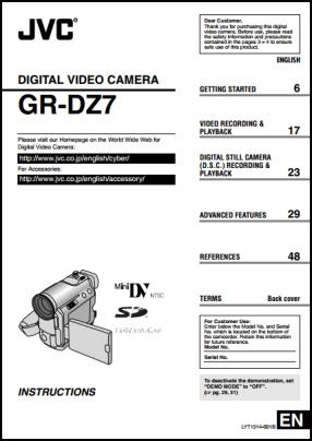 JVC GR-DZ7 Руководство пользователя