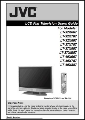 JVC LT-32X667, LT-32X787, LT-32X887, LT-37X787, LT-37X887, LT-37XM57, LT-40X667, LT-40X787, LT-40X887 Руководство пользователя