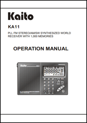 Kaito KA11 User's Manual