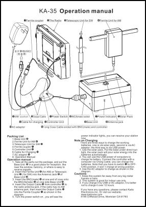Kaito KA35 User's Manual