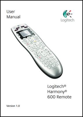 Logitech Harmony 600 User's Manual