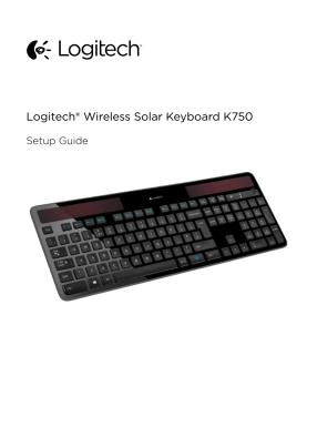 Logitech K750 Руководство пользователя