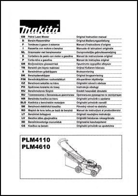 Makita PLM4110, PLM4610 User's Manual