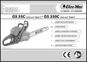 Oleo-Mac GS 35, GS 350 Руководство пользователя