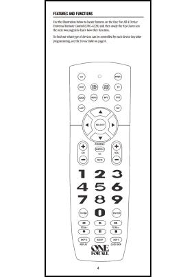 One For All URC-4220 Руководство пользователя