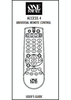 One For All URC-4605, URC-4640 User's Manual + Code List