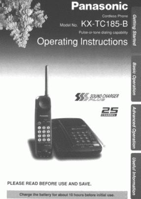 Panasonic KX-TC185 Руководство пользователя
