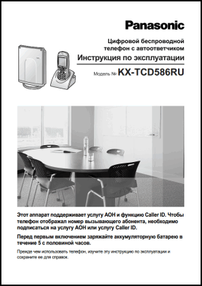 Panasonic KX-TCD586 User's Manual