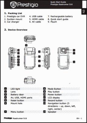 Prestigio Roadrunner 510 User's Manual
