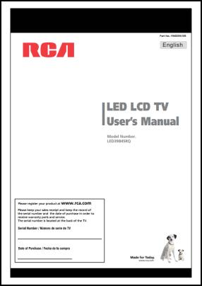 RCA LED39B45RQ Руководство пользователя