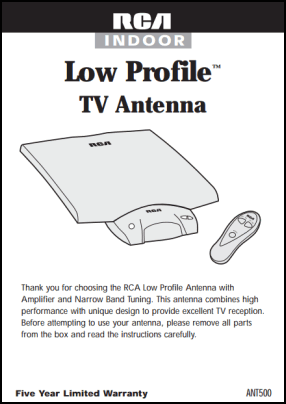 RCA Low Profile User's Manual
