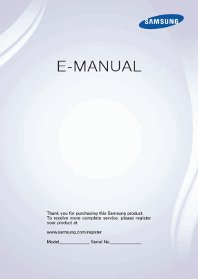 Samsung UE40F6400AK User's Manual