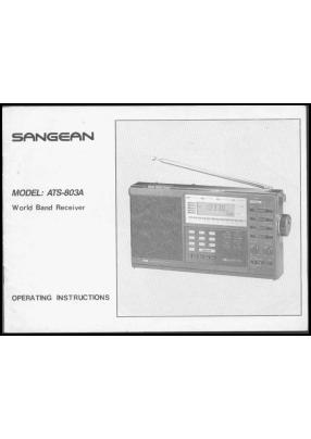 Sangean ATS-803A Руководство пользователя