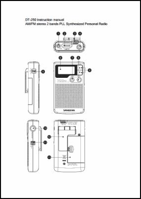 Sangean DT-250 Руководство пользователя