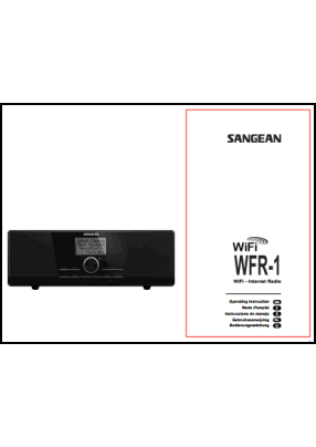 Sangean WFR-1 User's Manual