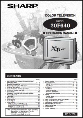 Sharp 20F640 User's Manual