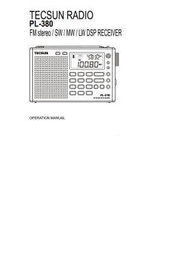 Tecsun PL-380 User's Manual