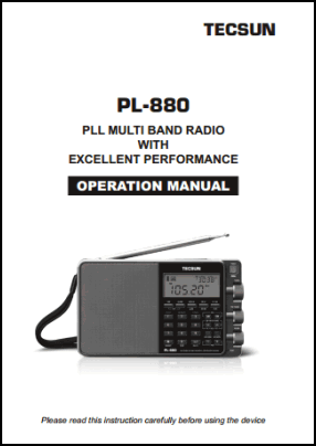 Tecsun PL-880 User's Manual