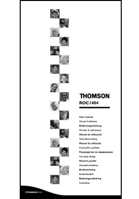 Thomson ROC 1404 Руководство пользователя