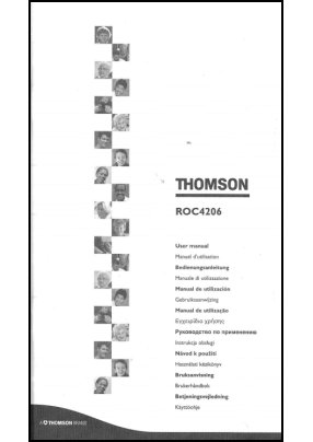 Thomson ROC 4206 User's Manual + Code List