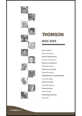 Thomson ROC 8505 Руководство пользователя