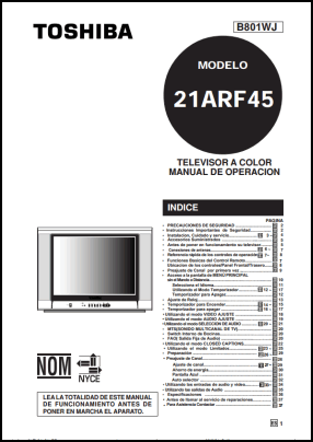 Toshiba 21ARF45 User's Manual