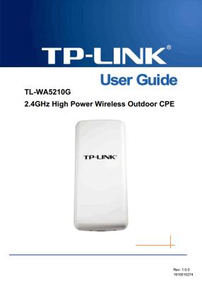 TP-Link TL-WA5210G User's Manual