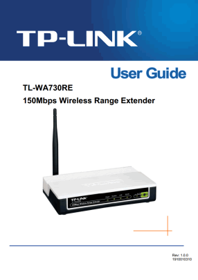 TP-Link TL-WA730RE User's Manual