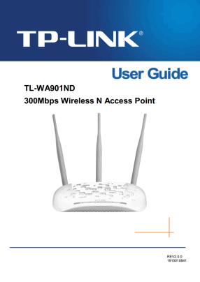 TP-Link TL-WA901ND V3 Руководство пользователя