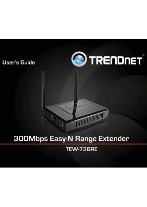TRENDnet TEW-736RE User's Manual