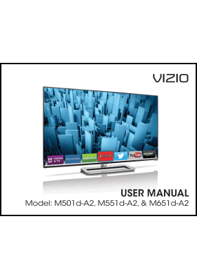 Vizio M501D-A2, M551D-A2, M651D-A2 User's Manual
