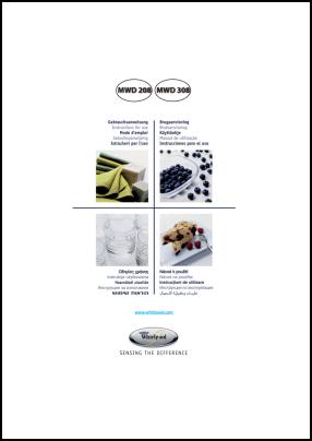 Whirlpool MWD 208, MWD 308 User's Manual